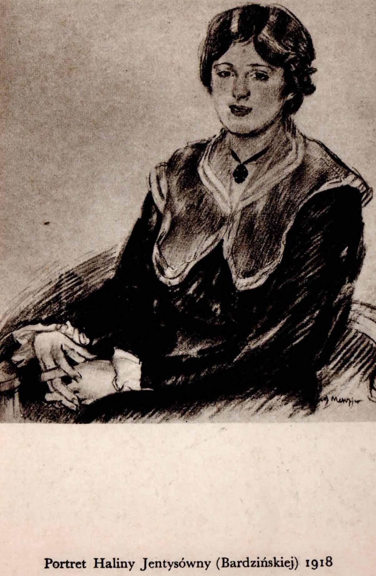 Józef Mehoffer Portret Haliny Jentysówny (Bardzińskiej) 1918