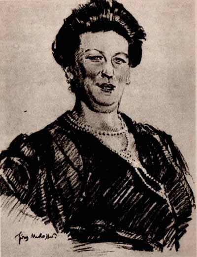 Józef Mehoffer Portret hr. Marji Janowej Mycielskiej 1924