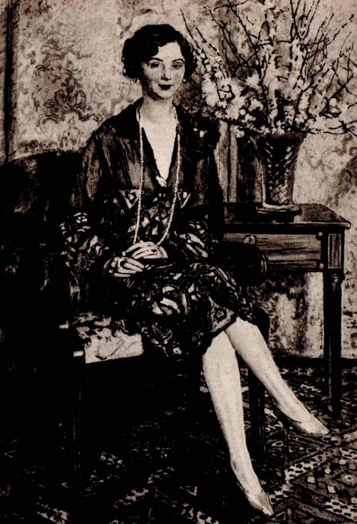 Józef Mehoffer Portret Zofji Stanisławowej Zakrzewskiej 1927