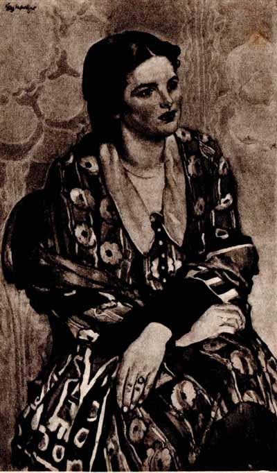 Józef Mehoffer Portret Gizeli Oskarowej Schenkerowej 1929