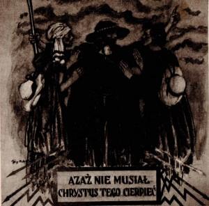 Józef Mehoffer Chrystus Pielgrzym Dekoracja ścienna kościoła parafjalnego w Turku 1933