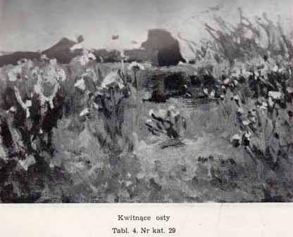 Stanisławski Jan, Kwitnące osty