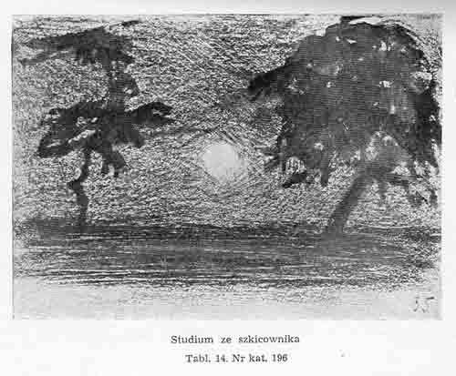 Stanisławski Jan, Studium ze szkicownika