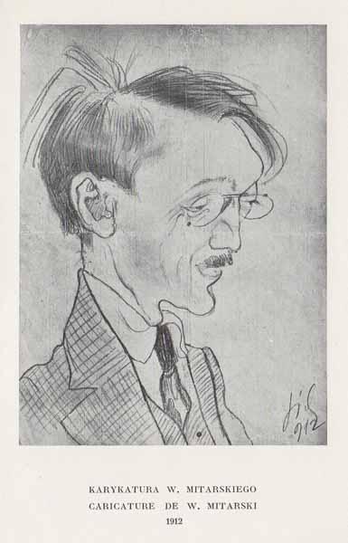 Kazimierz Sichulski Karykatura W. Mitarskiego