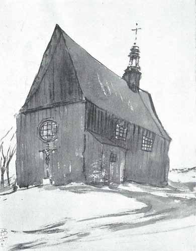 Noakowski Stanisław Kościół wiejski drewniany