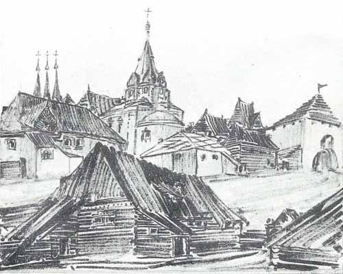 Noakowski Stanisław Rosyjskie miasteczko prowincjonalne